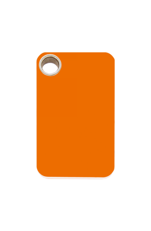 Orange Rectangle Plastic Pet Tag