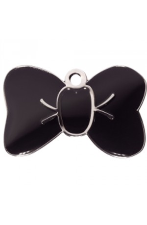 Black Bow Tie Pet Tag