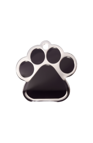 Black Paw Pet Tag