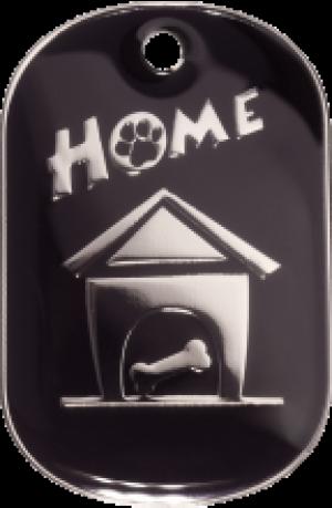 Black Home Tag Large