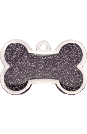 Black Sparkle Bone Large