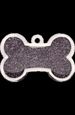 Black Sparkle Bone Large