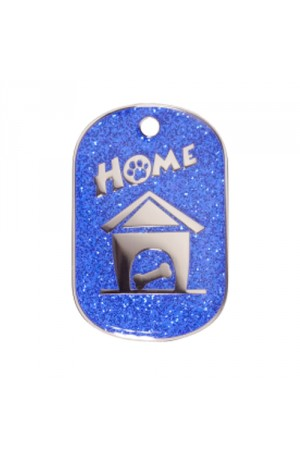 Blue Sparkle Home Pet Tag