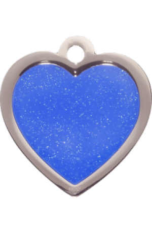 Blue Sparkle Heart Small