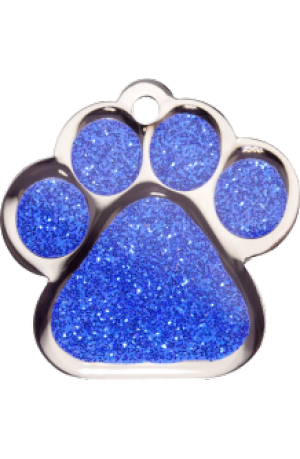 Blue Sparkle Paw Print Large