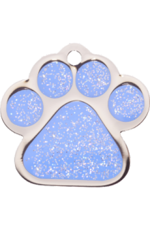 Light Blue Sparkle Paw Print Small