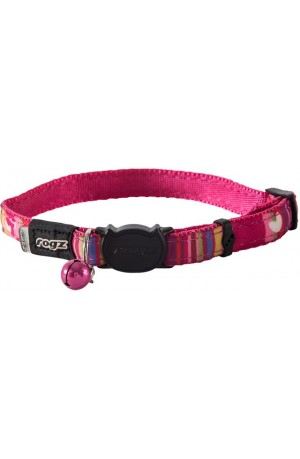 Rogz Neo Cat Collar 11mm - Pink Candystripes