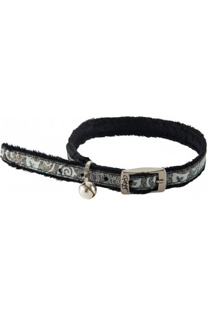 Rogz Sparkle Cat Pin Buckle Collar 11mm - Black