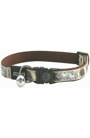 Rogz Cool Cat Collar - Brown Paw