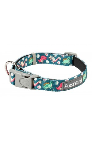 FuzzYard Dinosaur Land Dog Collar