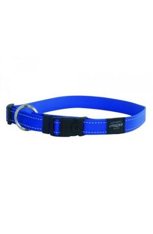 Rogz Utility Reflective Stitching Dog Collar - Blue