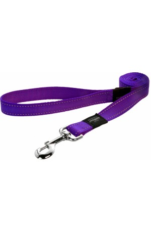 Rogz Utility Reflective Stitching Dog Lead - Purple