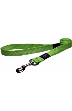Rogz Utility Reflective Stitching Dog Lead - Lime
