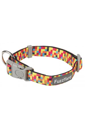FuzzYard 1983 Multi Colour Check Dog Collar MEDIUM ONLY
