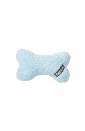 FuzzYard Plush Bone Dog Toy - Light Blue
