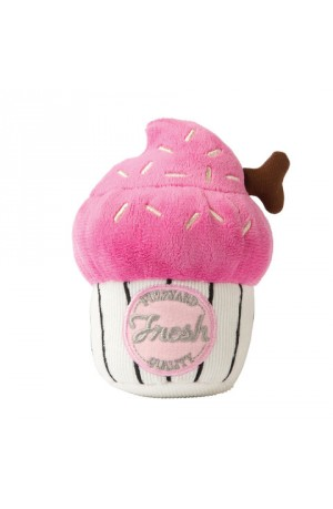 FuzzYard Pink Cupcake Dog Toy - Small