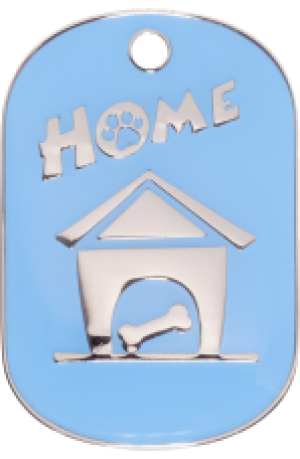 Light Blue Home Tag Small