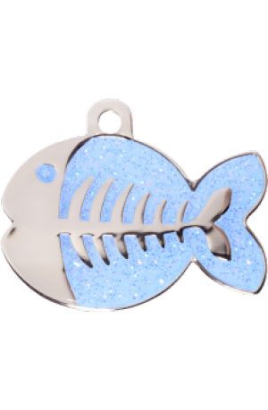 Light Blue Sparkle Fish Small