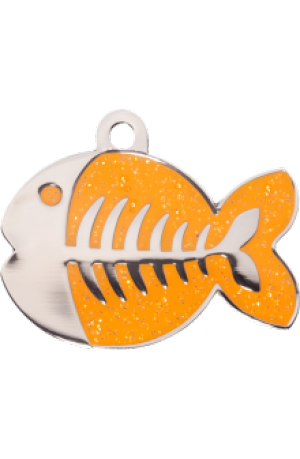 Orange Sparkle Fish Small