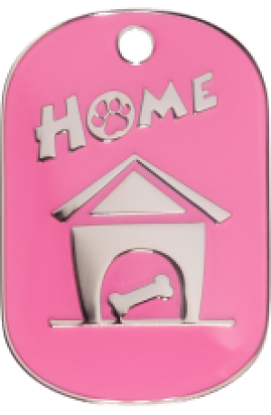 Pink Home Tag Small
