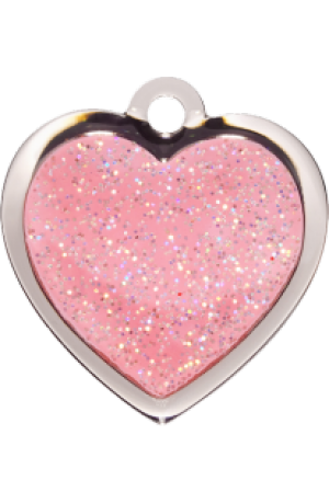 Pink Sparkle Heart Small