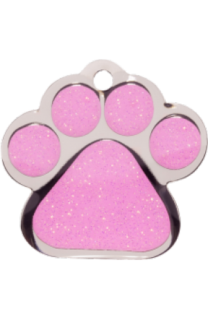 Pink Sparkle Paw Print Small