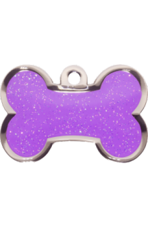 Purple Sparkle Bone Small