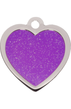 Purple Sparkle Heart Small