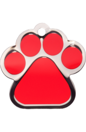 Red Paw Print Large