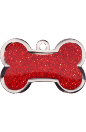 Red Sparkle Bone Large
