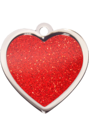 Red Sparkle Heart Large