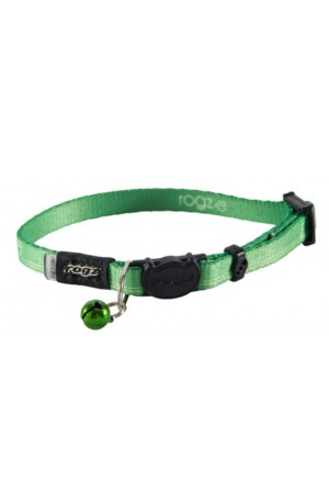 Rogz Kiddy Cat Collar 11mm - Lime Paws
