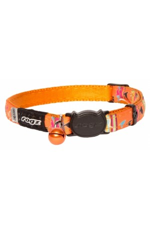 Rogz Neo Cat Collar 11mm - Orange Candystripes