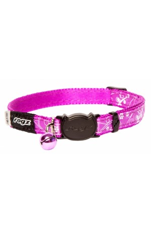 Rogz Silky Cat Collar 11mm - Purple Filigree