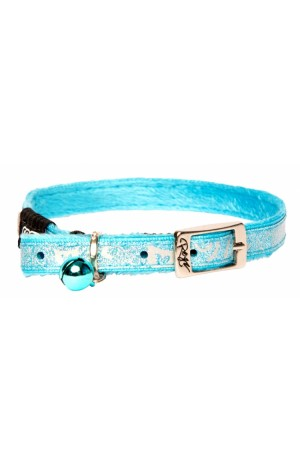 Rogz Sparkle Cat Pin Buckle Collar 11mm - Turquoise