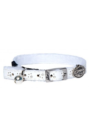 Rogz Trendy Cat Pin Buckle Collar 11mm - White