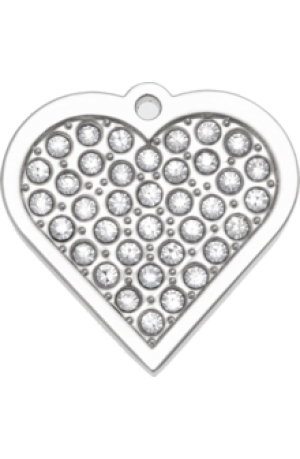 Twinkle Bling Heart Pet Tag Small