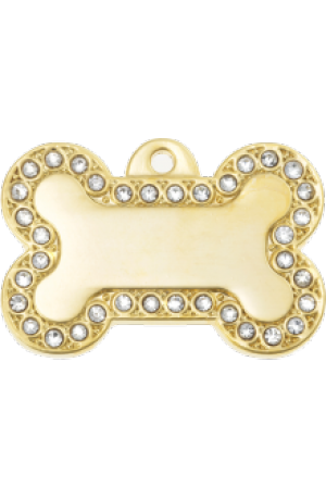 Ziggy Bling Bone Pet Tag Large