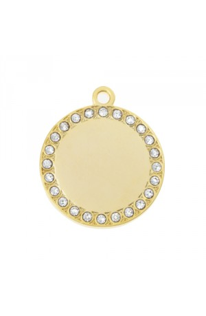 Zsa Zsa Bling Round Pet Tag