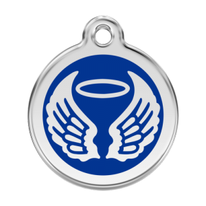 Dark Blue Angel Wings Pet Tag