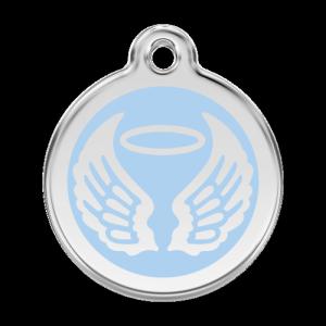 Light Blue Angel Wings Pet Tag