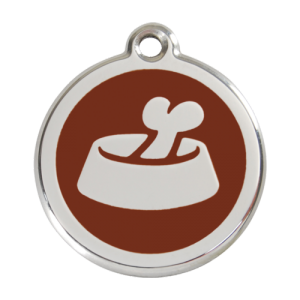 Brown Bone in Bowl Pet Tag