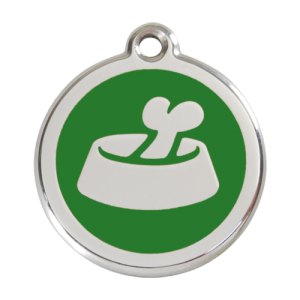 Green Bone in Bowl Pet Tag