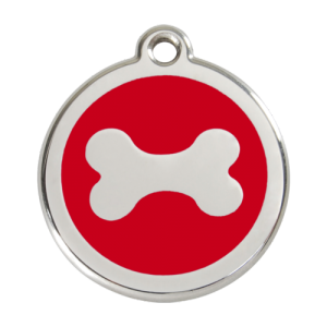 Red Bone Pet Tag