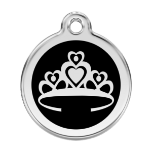 Black Crown Pet Tag