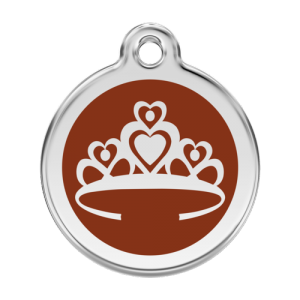 Brown Crown Pet Tag