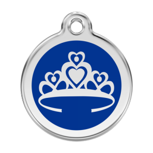 Dark Blue Crown Pet Tag