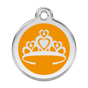 Orange Crown Pet Tag