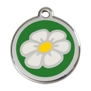 Green Daisy Pet Tag