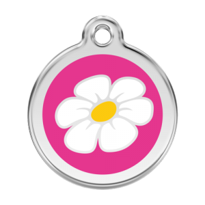 Hot Pink Daisy Pet Tag